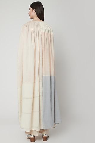 Beige Dress With Color Blocking by Urvashi Kaur