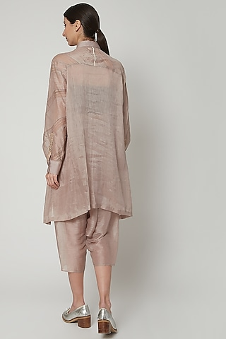 Grey Moroccan Linen Pants by Urvashi Kaur