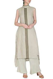Sage Green High-Low Tunic by Urvashi Kaur