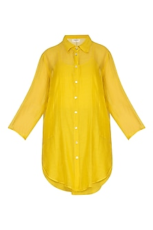 Yellow Tunic With Slip by Urvashi Kaur