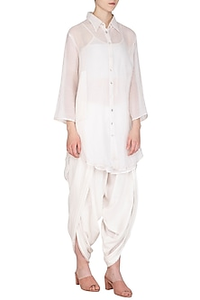 White Tunic With Slip by Urvashi Kaur