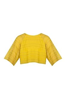 Yellow Organic Cotton Crop Top by Urvashi Kaur