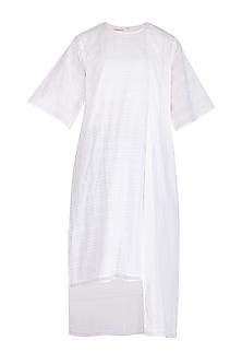 White Striped Tunic by Urvashi Kaur