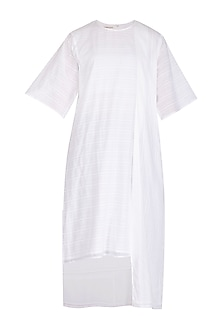 White Striped Tunic by Urvashi Kaur