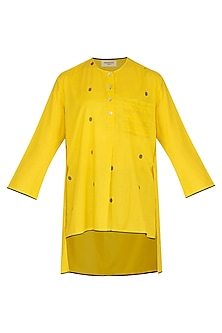 Yellow Short Tunic by Urvashi Kaur