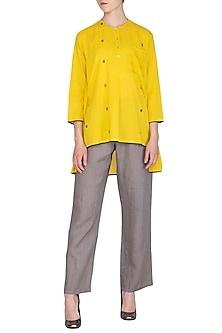 Yellow Short Tunic by Urvashi Kaur