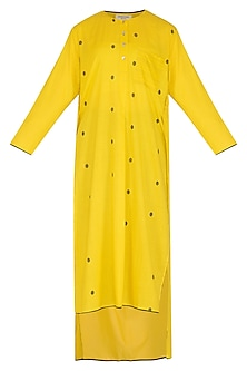 Yellow Dotted Tunic by Urvashi Kaur