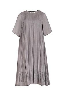 Grey Block Printed Dress by Urvashi Kaur