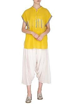 White Organic Cotton Salwar Pants by Urvashi Kaur