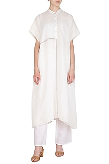 White Organic Cotton Tunic by Urvashi Kaur