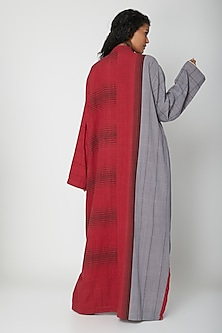 Red Hand Woven Dress by Urvashi Kaur