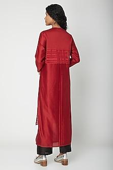 Red Striped Printed Tunic by Urvashi Kaur