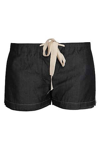 Grey Denim Shorts by Kapda By Urvashi Kaur