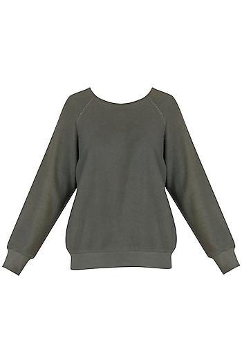 Grey Sweatshirt by Kapda By Urvashi Kaur