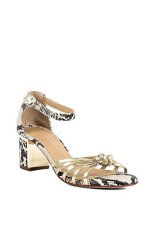 Gold Metallic Sandals by VANILLA MOON