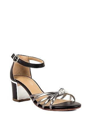 Pewter Grey Metallic Sandals by VANILLA MOON