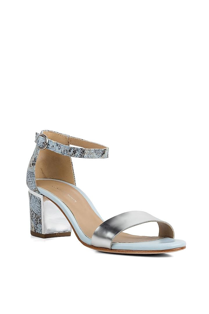 Blue Metallic Heels by VANILLA MOON