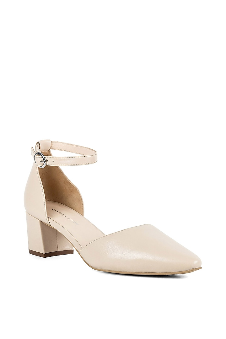 Beige Leather Sandals by VANILLA MOON