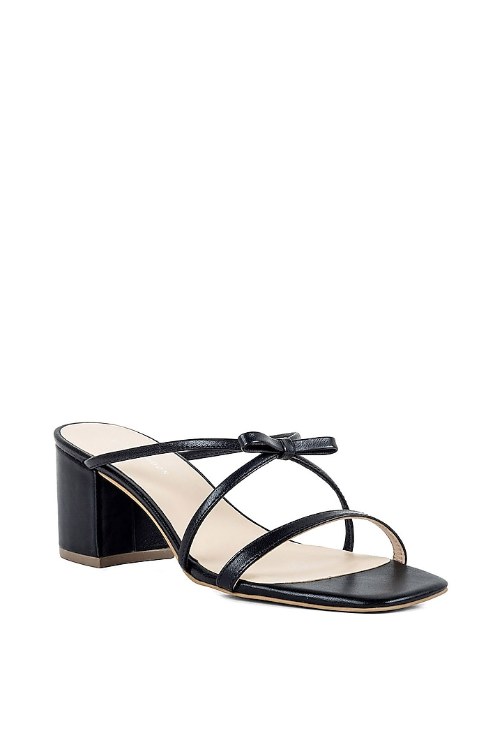 Black Triple Strapped Sandals by VANILLA MOON