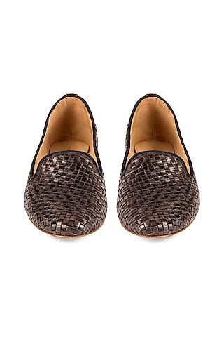 Navy Blue Handcrafted Loafers by VANILLA MOON