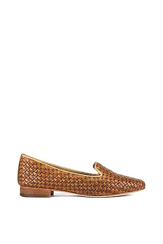 Tan Handcrafted Loafers by VANILLA MOON