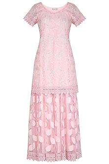 Baby Pink Embellished Lehenga Set by Vandana Sethi
