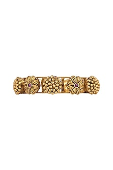 Gold Finish Antique Style Bangles by VASTRAA Jewellery