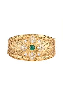 Gold Finish Openable Kada Bracelet by VASTRAA Jewellery