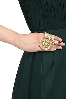 Gold Plated Doris Ring by Valliyan by Nitya Arora