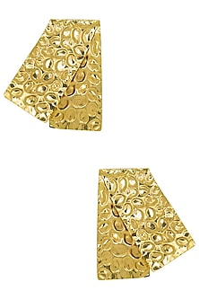 Gold Plated Rectangular Earrings by Valliyan by Nitya Arora