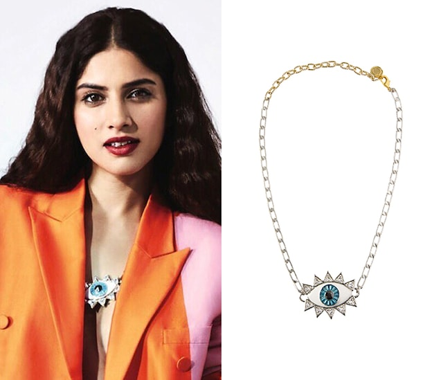 The Evil Eye Necklace with Silver Plating by Valliyan by Nitya Arora