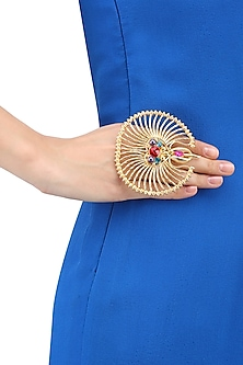 Gold Plated Ethenic Armeen Ring by Valliyan by Nitya Arora