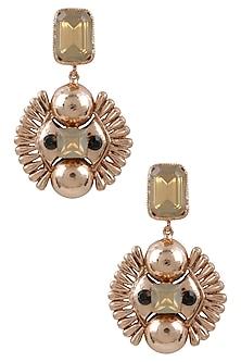 Gold Plated Trendy Flower Earrings by Valliyan by Nitya Arora