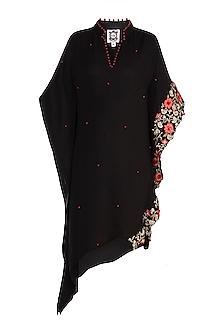Black Embroidered Kaftan by Varsha Wadhwa