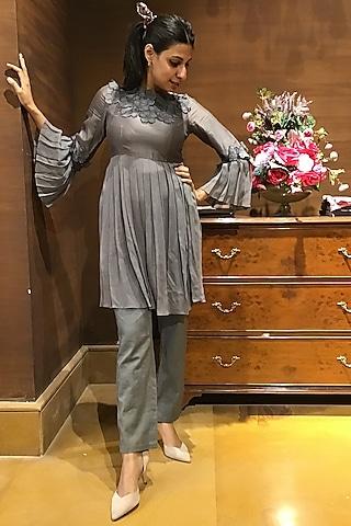 Grey Tunic Set by Varun Bahl