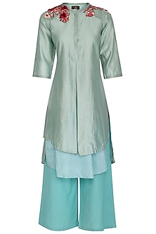 Duckegg Embroidered Tunic Set by Varun Bahl Pret