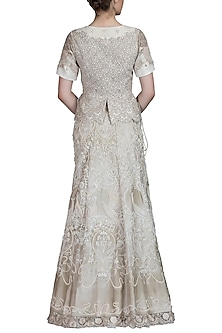 Ivory Embroidered Lehenga Skirt With Blouse by Varun Bahl