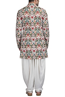 Multi Colored Embroidered Sherwani Set by Varun Bahl Men