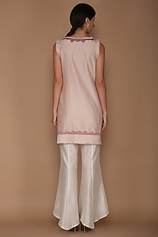 Light Lilac & Ivory Tunic Set by Varun Bahl