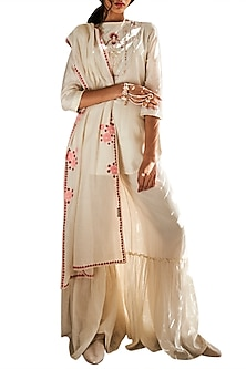 Ivory Sharara Set by Varun Bahl