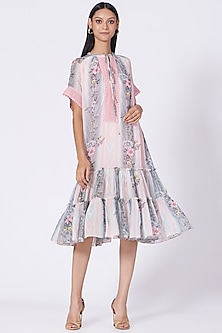Blush Pink Floral Printed Dress by Varun Bahl Pret-POPULAR PRODUCTS AT STORE