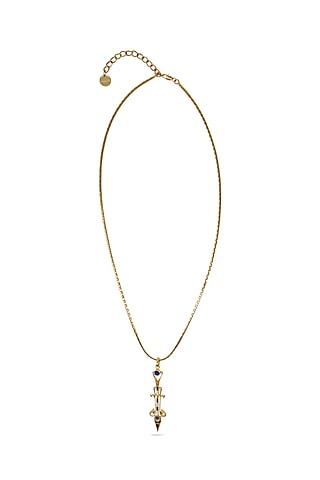 Gold Plated Swarovski Crystals Necklace by Valliyan By Nitya Arora