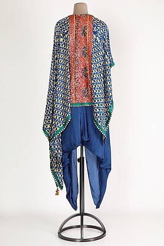 Indigo Embroidered Pant Set by Verb by Pallavi Singhee