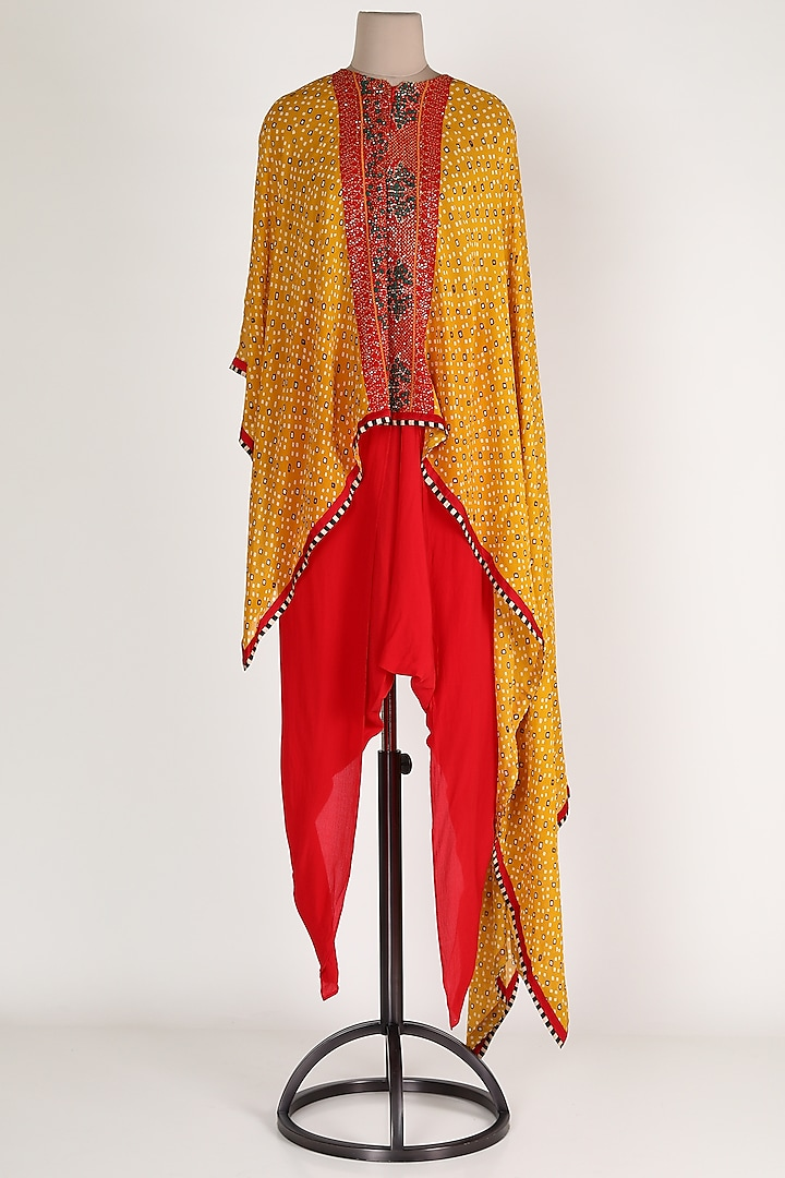 Mustard Embroidered Pant Set by Verb by Pallavi Singhee