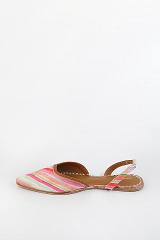 Multi Colored Embroidered Flats by Vareli Bafna Designs