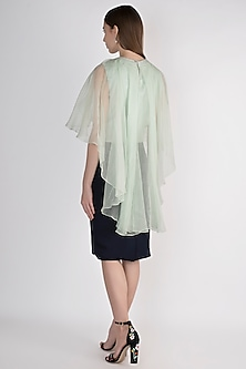 Navy Blue Midi Tapered Skirt by Vito Dell'Erba