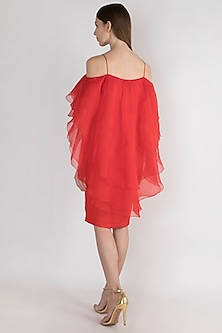 Rosso Red Tapered Dress by Vito Dell'Erba