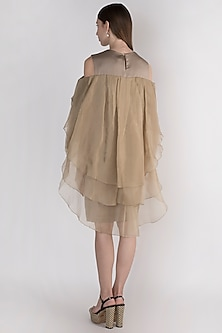 Champagne Tapered Skirt by Vito Dell'Erba