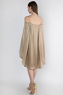 Champagne Off Shoulder Dress by Vito Dell'Erba