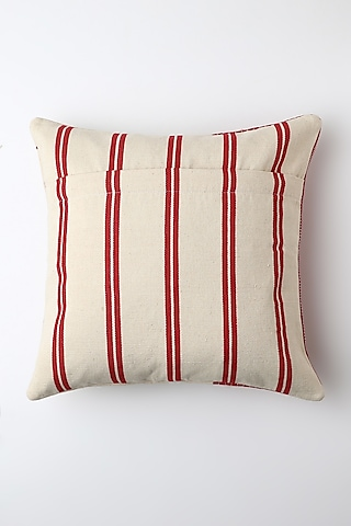 White Juvi Cushion Cover by Vekuvolu Dozo